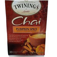 Twinings Chai PUMPKIN SPICE Caffeinated Black Tea 05/09/2022