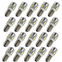 20x White LED BA9S T4W H6W 363 5630 6SMD License Plate Bulb Car Wedge Side Light
