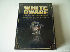Figurine Warhammer Nain Blanc White Dwarf Abonnement Subscription 2010 [ Neuf ]