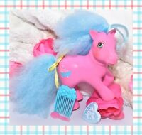 ❤️My Little Pony MLP G1 Vtg SWEET SUDS Pink Perfume Puff Pony PICK Comb Ribbon❤️