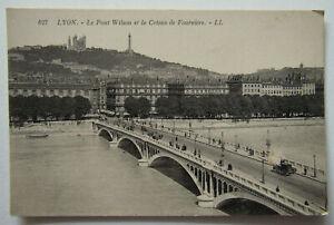 France Lyon Wilson Bridge Fourviere Antique Postcard