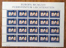 20 x Liechtenstein 444 KB post frescos CEPT arco Europa 1964 mnh