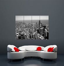 Chicago vue de sears tower cityscape windy illinois giant wall poster X2442