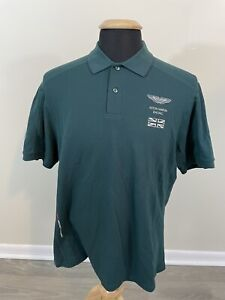 Men's Aston Martin Racing Polo Shirt Green Team 59 Size US Large EU XL