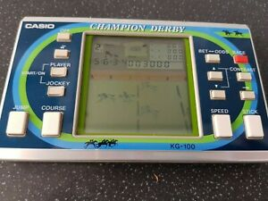 Rare Casio 1984 Champion Derby game and watch type LCD game