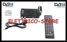 DECODER MINI DIGITALE TERRESTRE SCART DVB-T2 180° USB HDMI PRESA SCART HD-333