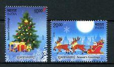 India 2016 MNH Christmas 2v Set Father Christmas Tree Stamps