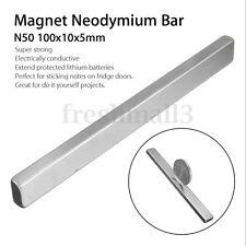 Big Bulk Super Strong Block Strip Magnet Rare Earth Neodymium 100 x 10 x 5mm N50