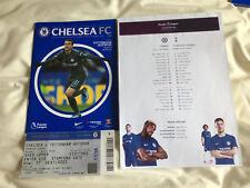 Chelsea v Tottenham 1 April 2018 Programme, Away Ticket Stub & Team Sheet (1of4)
