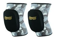 EVO Knee Pads Brace Support Elasticated MMA Gym Work Volleyball Wrestling Guard