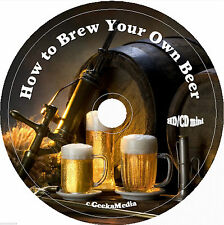 How to Brew Your Own Beer cd Books Recipes Cookbook Making Make Vintage Home