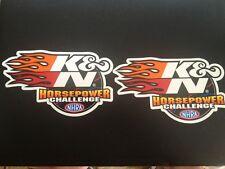 "2 pcs. K&N Filter Racing Decal Sticker Official K & N 6 X 3.5"""