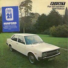 Fiat 131 Mirafiori 1300 Saloon 1975-77 UK Market Foldout Sales Brochure