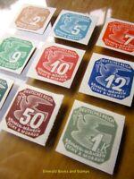 EBS Bohemia & Moravia 1943 - Newspaper Stamps - Zeitungsmarken Mi. 117-125 MNH**