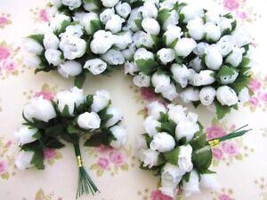 "144 Poly Silk Rose Flower 4"" Stem/leaf/Wedding Bouquet/Corsage H415-Pick Color"