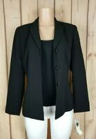 KASPER Separates Womens Size 6 Long Sleeve Button Down Black Blazer Suit Jacket