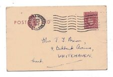 1953 H&B Cp104b Used to Whitehaven Kgvi 2d Red-brown L26 Ps Postcard Reduced