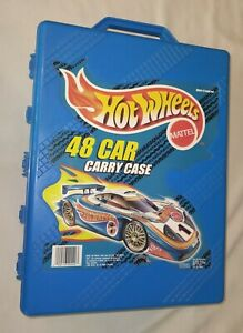 Hot Wheels 48 Car Carry Case, Porsche 918? On front. 1999, Tara,  Mattel