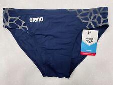 ARENA Men's 34 Carbonite Racer Swim Brief MaxLife Suit speedo MEDIUM NAVY New