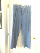 Mens LEE Relaxed Fit Straight Leg Dark Stonewash Blue Jeans size 50X32 PleatFrnt