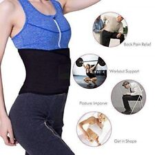Neoprene Lower Back Waist Lumbar Support Black Belt Sports Backache Unisex
