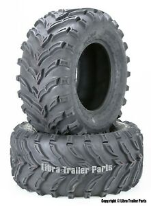 Set 2 ATV Mud Tires 22x10-9 22X10X9 6PR for Honda Recon 250 Suzuki Ozark 250