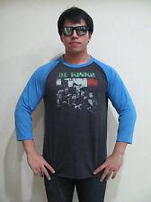 The Kinks Band 80's Tour Concert Men's Raglan T-Shirt Gray Graphic Tee Bunny M