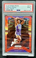 2019 Prizm RUBY WAVE REFRACTOR RC Warriors JORDAN POOLE Rookie Card PSA 9 MINT