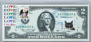 Two Dollar Bill 1976 US Currency Notes Uncirculated Money Collectible Stamps Cat