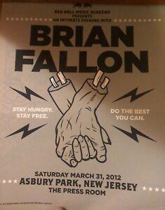 The Gaslight Anthem Brian Fallon poster print RARE