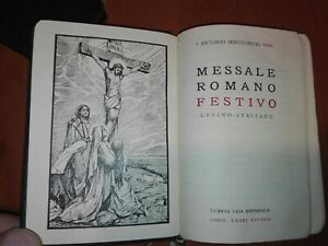 MESSALE Romano Festivo - Latino-Italiano - Mistrorigo IX Ed. 1957 con custodia