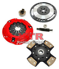 XTR 4-PUCK STAGE 3 SPORT CLUTCH KIT & RACE FLYWHEEL 92-05 HONDA CIVIC DEL SOL