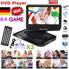 "Tragbar 9"" Mini DVD Player 270° Swivel Screen USB SD TV CD +64 Games DVD Player"