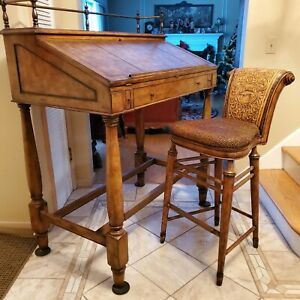 Rare Thomasville Ernest Hemingway Writing Desk and Chair-Collector's Pieces