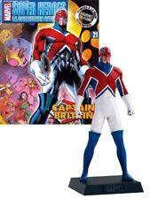 Classic Marvel Figurine Collection # 21 Captain Britain + Magazine