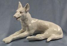ac schäferhund Hund hundefigur porzellanfigur Schaubachbach Kunst  figur weißer