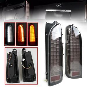 Black Tail Light Rear Lamp LED Bar For Toyota Hiace Commuter KDH200 2005-2018