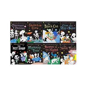 Funny Bones Collection By Allan Ahlberg 8 Books Set Ghost Train, Skeleton Funny