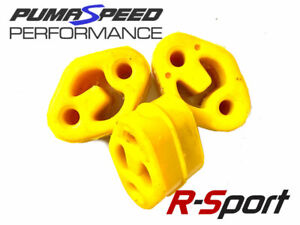 Focus RS Mk2 Uprated Silicone Exhaust Mount Set - Yellow