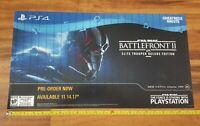 Star Wars Battlefront II Store Display Window Decal RP Sony PS4 2017 Unused!