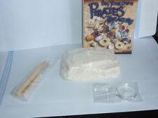 KIT ARCHEOLOGIA PIRATA cristalli moneta fossile gioco educativo storia creativo