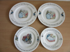 Wedgwood Etruria Frederick Warne Beatrix Potter Peter Rabbit 4pc porcelain plate