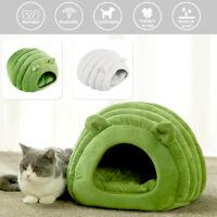 Pet chat chien nid lit chiot doux chaud cave maison hiver sac couchage tapis SH