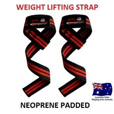 WEIGHT LIFTING WRIST STRAPS POWERLIFTING BODYBUILDING FITNESS GYM SUPPORT STRAP