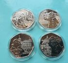 Paddington Bear 4 x 50p Complete Set Uncirculated from Sealed Bags in Capsules