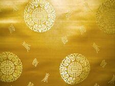 China Seidenstoff Brokat Glückzeichen gelb