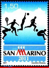 11-10 SAN MARINO 2011 SPORTS, SOCCER FOOTBALL, TENNIS VOLLEYBALL ATHLETICS, MNH