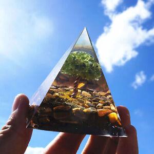 Crystal Orgone Pyramid, Reiki Healing Chakra Meditation Large  Pyramids