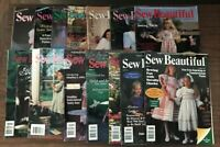 SEW BEAUTIFUL MAGAZINES Lot of 14 Martha Pullen 1988, 1992, 1993, 1994 Sewing