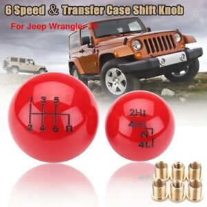 "Car Ball Style 6Speed Black Shift Knob Head for Jeep/Wrangler 'YJ's ""TJ's""&""JK's"